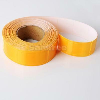 10M REFLECTIVE SAFETY TAPE Yellow Gloss Sew on 25mm wide NEW