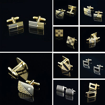 Business Wedding Classic Hot Sale Steel Silver Stainless Crystal Mens Cufflinks