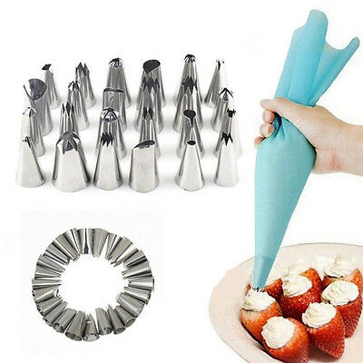 24pcs Quality Russian Tulip Icing Piping Nozzle Set Cake Cupcake Decoration Tips