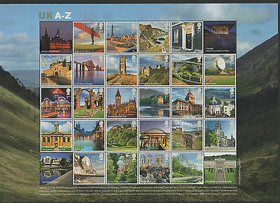Gb 2012 Sheet Ms3308 A-Z Full Sheet (26 Stamps) Unmounted Mint
