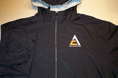 Black Allis Chalmers Triangle Full Zip Hooded Jacket w/Pockets