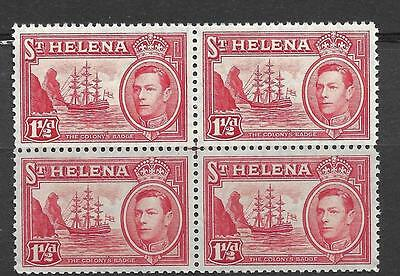 ST HELENA, KGV1, 1938 ISSUE,  1 1/2d, SG 133, MNH  BLCOK 4