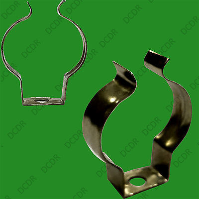 10x Thin T8 Terry Clips 1 Inch Sprung Steel Tool / Tube Holder