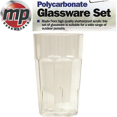 Strong Polycarbonate Glassware Plastic Cup Glasses Set - Large High Ball Tumbler