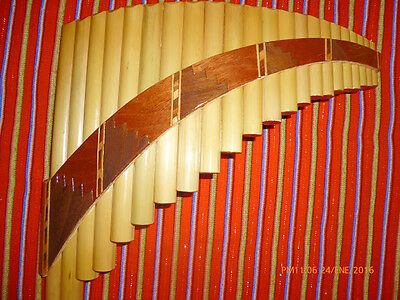 Professional  Panflute 22 Pipes Inca Motifs  From Peru -See Video