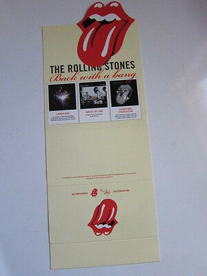 ROLLING STONES Back with a bang cd divider card