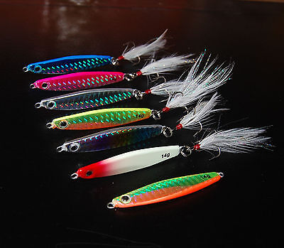 5PCS Deep sea Fishing Lure Metal Jigging Jig Jigbait spoon 10g 14g 21g 28g