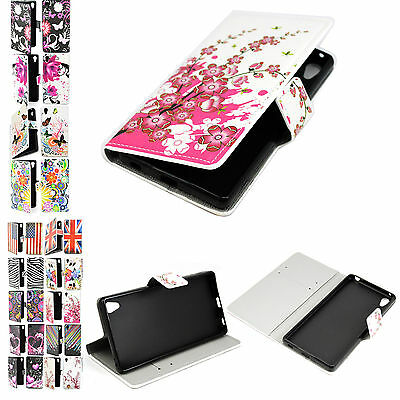Wallet Leather Skin Phone Case Flip Cover Stand For Sony Xperia Z3 Z4 Z2 E3 C4