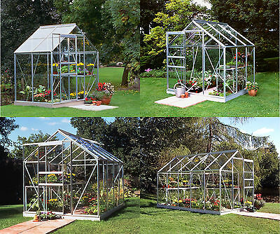 Halls Popular Glass Greenhouse with Base - Choice of Glass Type and Size :Argos