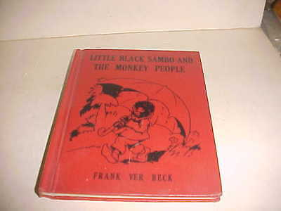 Little Black Sambo and the Monkey People book by Frank Ver Beck copyright 1935