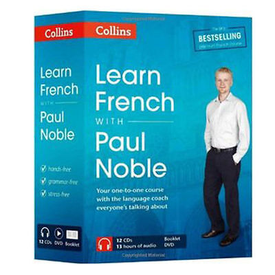 Learn French with Paul Noble Collins 12 CDs, Booklet, DVD Collection