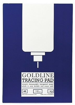 112gsm A3 Goldline Tracing Paper Pad (50 Sheet Pad)