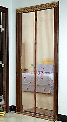 Magnetic Screen Door Fits Door Up To 34x82 Keep Bugs Mosquitoes Insects Out