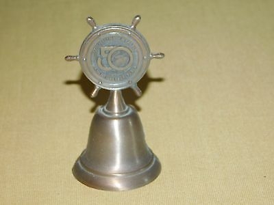 "Vintage Ship 1986 4"" High Queen Mary 1936-1986 50Th Anniversary Metal Bell"