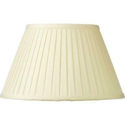 Faux Silk Knife Pleated Lampshade Cream 25cm - 50cm Floor or Table Light Shade