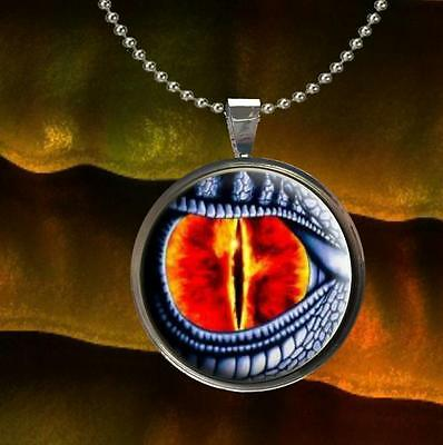 One Dragon Eye Pendant Charm or Keychain Jewelry Pick Setting Color