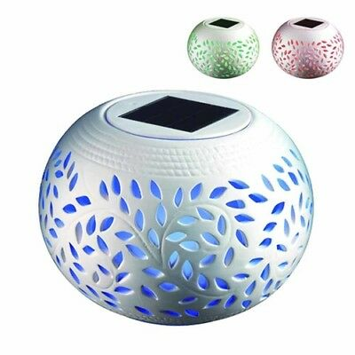 Useful Night Light Solar Powered Colour Changing Mosaic Table Party Colourful