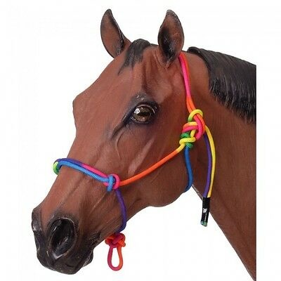 Tough-1 Multi-Colored MINIATURE Rope Halter - MINI MEDIUM - Rainbow - NWT