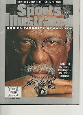 BILL RUSSELL Signed SPORTS ILLUSTRATED with PSA COA (NO Label)