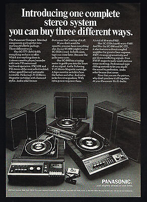 1971 Panasonic Stereo System 3 Models SC-777 555A 666 Vintage Print Ad