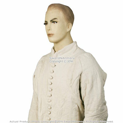 Medieval 14th Century Type 6 Gambeson Padded Armour LARP SCA WMA Arming Jacket