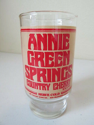 VTG Annie Green Springs Country Cherry Drinking Glass Tumbler