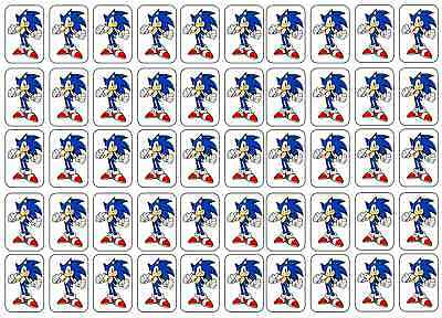 "50 Sonic the Hedgehog Envelope Seals / Labels / Stickers, 1"" by 1.5"""