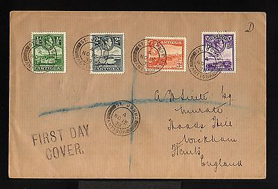 11281-ANTIGUA ISLANDS -REGISTERED FDC.COVER  to HANTS (england)1938.WWII.BRITISH