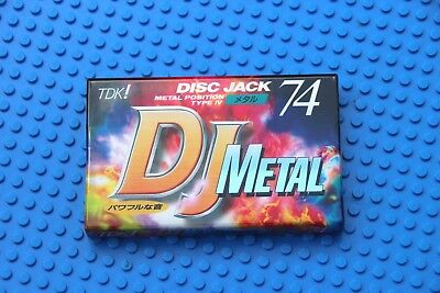 Tdk  Dj  Metal   74    Type Iv            Blank Cassette Tape  (1) (Sealed)