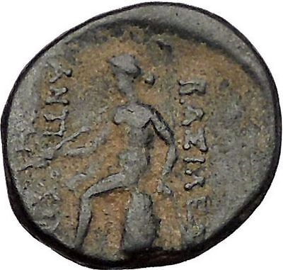 ANTIOCHOS III Megas 221BC Seleukid Rare R3 Ancient Greek Coin Apollo i56499