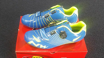 Northwave Torpedo Plus cycling shoes blue / Fluo yellow Size 42