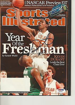 KEVIN DURANT Signed 1st issue SPORTS ILLUSTRATED with PSA COA (NO Label)