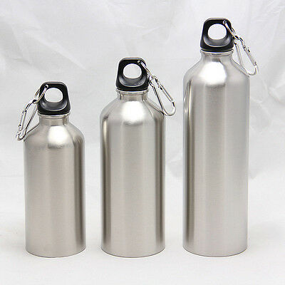 Travel Water Cup Portable Stainless Steel Drink Water Bottle Bike Cycling Kettle