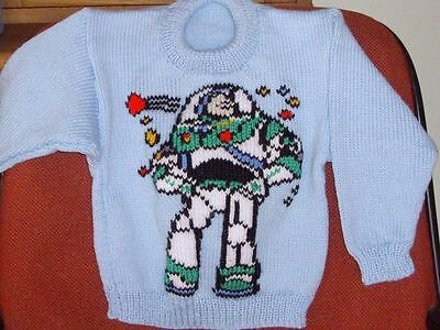Buzz Lightyear Jumper  New Hand Knitted Size 4