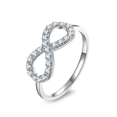 JewelryPalace Infinity Knot Love 925 Sterling Silver Ring