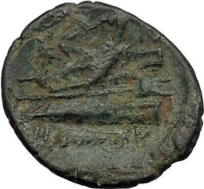 Arados in Phoenicia 176BC Tyche Galley Poseidon Athena Ancient Greek Coin i56502