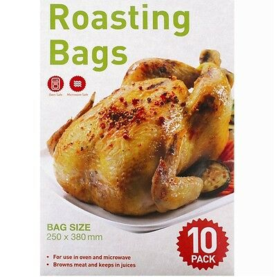 10 x Chicken Roasting Bags Freezer Boil In The Bag Oven Microwave Poultry Meat