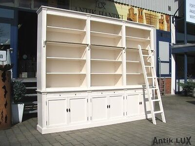 massive bibliothek b cherschrank shabby chic schrank. Black Bedroom Furniture Sets. Home Design Ideas