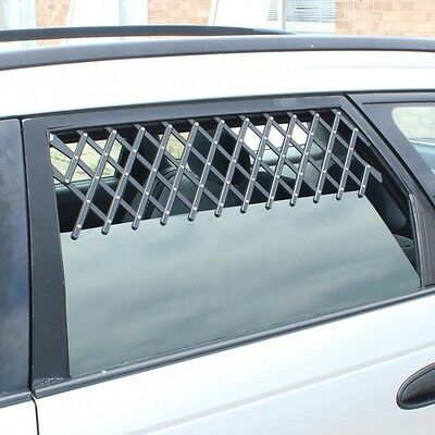 2 x UNIVERSAL CAR WINDOW TRAVEL DOG ADJUSTABLE HOT WEATHER AIR VENT GUARD RY789