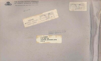1965 Rover USA ORIGINAL EMPTY Factory Mailing Envelope  wv9679