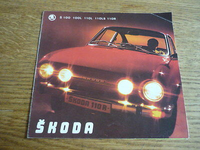 SKODA S100, 100L, 110L, 110LS AND 110R SALES  BROCHURE MID 70's