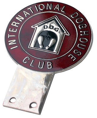 International Dog House Club car grille badge - F1 wife's