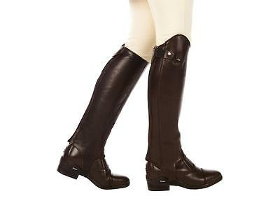 Dublin Intensity Brown Leather Horse Riding Half Chaps Gaiters And Paddock Boots