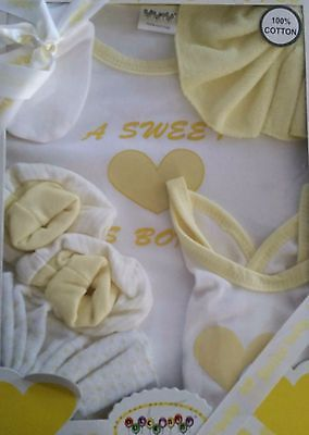 6 pcs Dulce yellow Baby clothes 0-3 Months