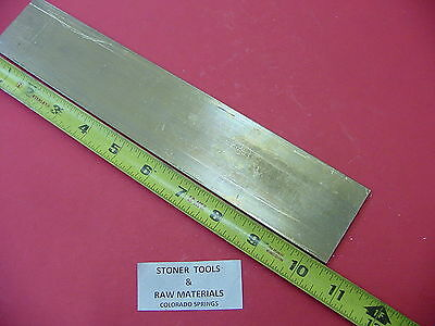 "1/8"" x 2"" C360 BRASS FLAT BAR 10.5"" long Solid .125"" Plate Mill Stock H02"