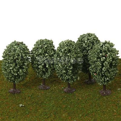 5pc Green Orbicular Model Trees Train Architecture Park Scenery 1:75 HO OO Scale