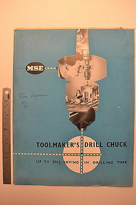 #J41 Vintage  MSE Toolmakers Drill Chuck Catalog - Publication C406 Machinists