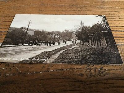 Old  Postcard Leicester Rd  Market Harborough