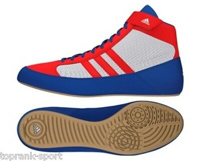 Adidas Havoc Red/White/Blue Wrestling Boxing Shoes Boots -  Unisex Mens Womens