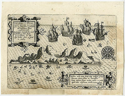 Antique Print-SOUTH AMERICA-ASCENSION ISLAND-Theodore de Bry-1600